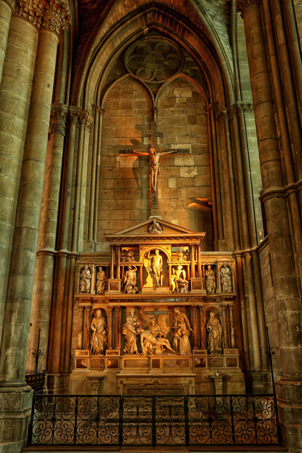 Retable de la résurrection, cathédrale de Reims.